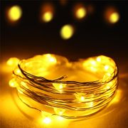 LED Draht-Lichterkette Gelb 20 Lampen