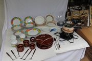 neu grosses Fondue Set Küchenwaage