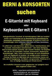 Gitarrist mit Keys od Keyboarder