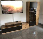 TV Board Glasvitrinen Schrank und