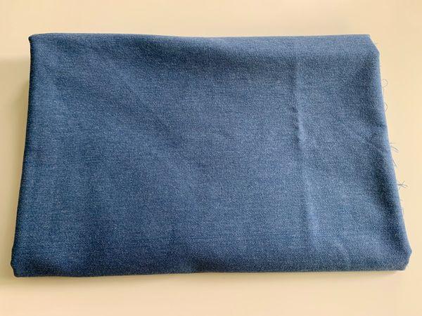 Stoffrest Hosenstoff mittelblau 150x145cm Stoff