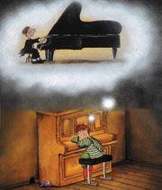Musiklehrer erteilt Klavierunterricht