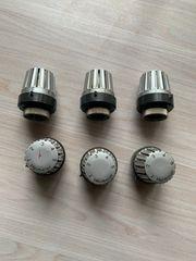 7 Heimeier Thermostat Köpfe