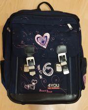 4You Schulrucksack HEARTBEAT gut erhalten