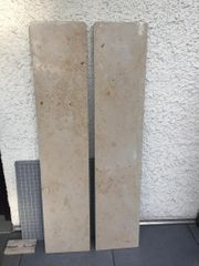 2 Naturstein Abdeckplatten für Heizkörpe