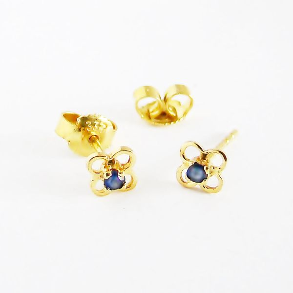 Ohrringe Gold 333er Saphire 8