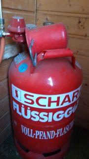 Scharr Flüssiggasflasche Halbvoll Propangas Gasflasche