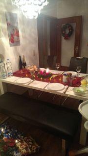 Tisch 160x90 mit Bank und