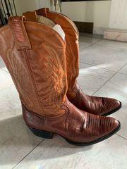 Cowboystiefel braun Leder innen mit
