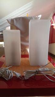 2 Frostglas Tischlampen