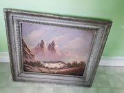 Einsame Berghütte Ölbild