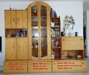 Wohnzimmerschrank und Vitrine aus Holz