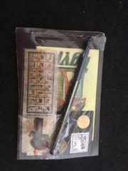 Ägyptisches Schreibset Münzen Briefmarken Stift