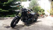 verschiedene Teile einer Harley Davidson