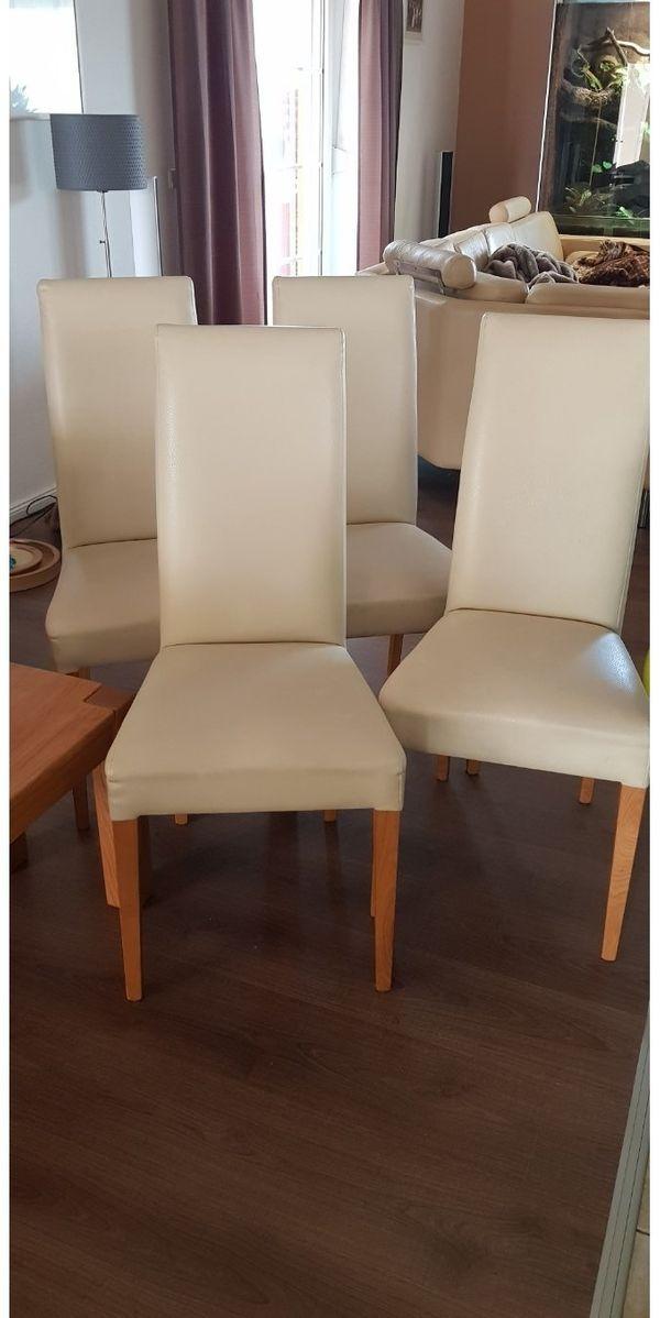 4 tolle Leder-Imitat Stühle in