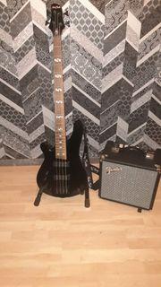 E-Bass Set Linkshänder Harley Benton