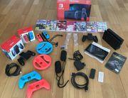 Nintendo switch konsole inklusive vielen