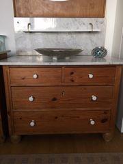 Waschtisch Kommode mit Marmorplatte und