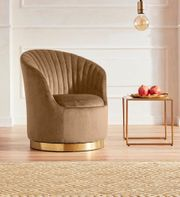 NEU Design Lounge-Sessel drehbar Samt