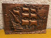 Bronzebild Segelschiff
