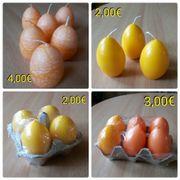 Kerzen orange gelb Ostern Deko
