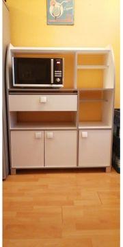 Küchen Schrank in grau-weiß