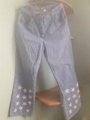 Jeanshose-Damen Hellblau mit Sternchen Grösse