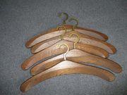 Kleiderbügel Eiche - 5 Stück - Messinghaken