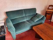 Wohnzimmer-Sofa in Grün 2 mal