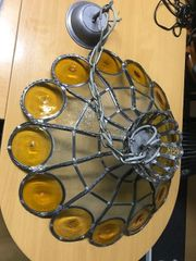 Deckenlampe Pendelleuchte Leuchte Bleiverglasung 58cm