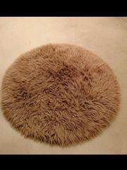 Teppich rund braun wie Neu