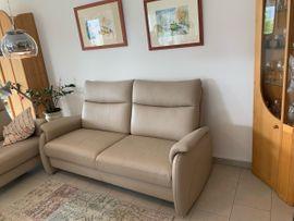 Bild 4 - Leder Sofa Farbe Stone - Trier Tarforst