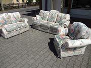 Polster-Sofa Garnitur Italy Style 3er