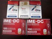 Neu 50 iDIA-Teststreifen - Diabetes-Support