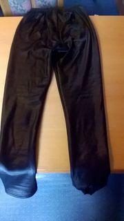 Schwarze Leggings XXL