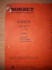 ABE 42575 Borbet Alufelgen Leichtmetallfelgen