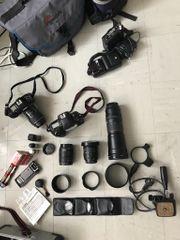 Komplette Kameraausrüstung