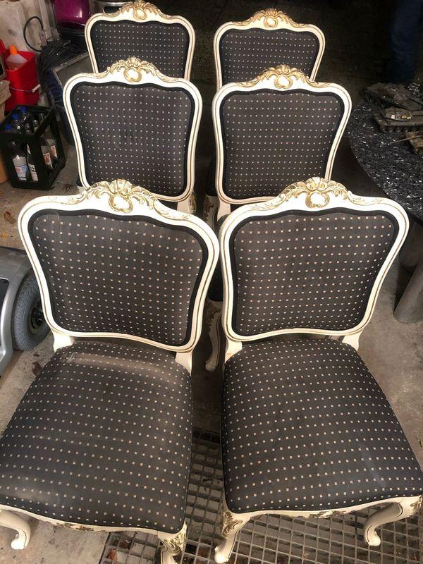 6x Chippendale Stühle