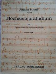 Klaviernoten Pianobuch Orgelheft Johann Strauß