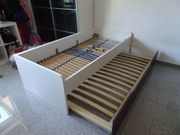 Ausziehbares Doppelbett mit 2 Lattenroste