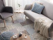 Teppich mehrfarbig Mosaik-Muster 140 x