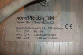 Spicker-Außenleuchtschilder Werbeschilder: Kleinanzeigen aus Berlin - Rubrik Restposten, gewerblich