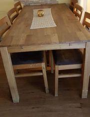 Großer Esstisch 160 mit 6