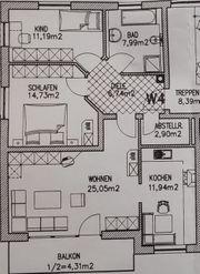 Schöne 3-Zimmer-Wohnung mit Balkon in