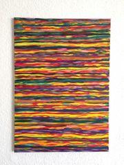 Abstrakte Kunst - Acrylbild in Rottönen