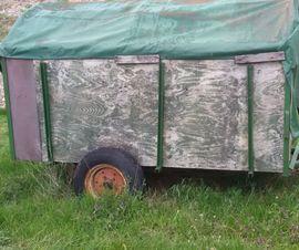 Traktoren, Landwirtschaftliche Fahrzeuge - Alter Viehwagen Viehanhänger Traktor Anhänger