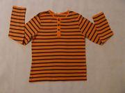 Jungs Langarm Shirt Orange Blau
