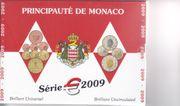 Monaco Kursmünzsatz 2009 BU brilliant