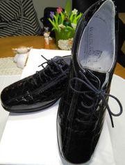 WALDLÄUFER Damen Schnurr Schuhe schwarz