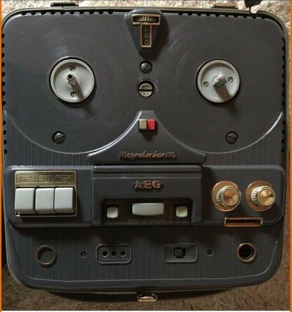 AEG Magnetophon 76 im Koffer Vintage Retro Deko Antik